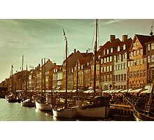 Yachts in a Harbor Photographic Print