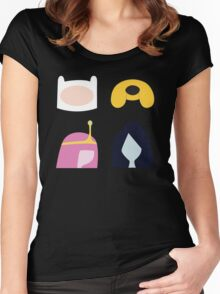 Simplistic Dudes and Dudettes Women's Fitted Scoop T-Shirt