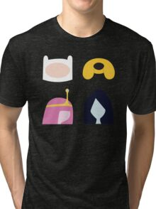 Simplistic Dudes and Dudettes Tri-blend T-Shirt