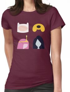 Simplistic Dudes and Dudettes Womens Fitted T-Shirt