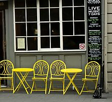 Yellow Chairs ,Cafe Hobart by mypic