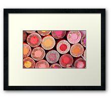Color Pencils Framed Print