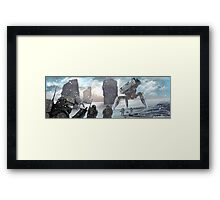 snow mecha Framed Print