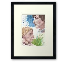 The Detective and The Doctor Framed Print