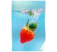 Diving Strawberry Poster