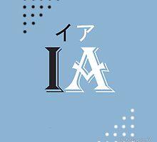 IA logo black design by Catdragon7