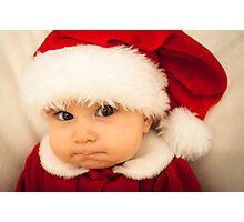 Grumpy Baby Santa Claus Photographic Print