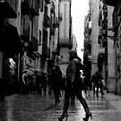 Raining in the Gothic Quarter, Barcelona by rsangsterkelly