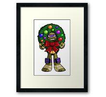 Christmas Donnie with a Wreath Framed Print
