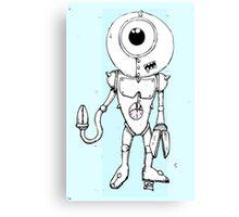 Robo Blue Canvas Print