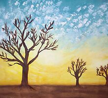 Savannah Trees at Sunset by JulesD12