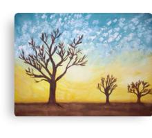 Savannah Trees at Sunset Canvas Print