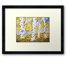 Birch Tree Forest Framed Print