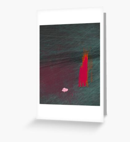 My pig burned down the house Greeting Card