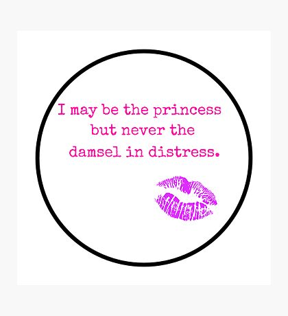 Never the Damsel Photographic Print