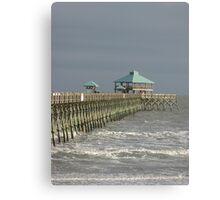 Pier at Folly Beach Canvas Print