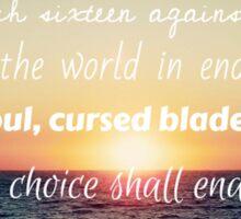 Percy Jackson Prophecy Sunset Sticker