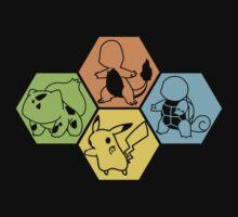 Gen 1 Starters Hexagon by ChronoStar
