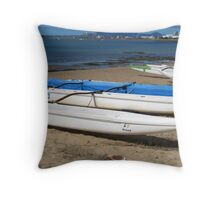 Dragon Boats, Beach, Townsville. Far Nth. Qld. Aust. Throw Pillow