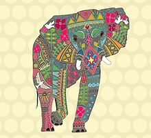 painted elephant straw by Sharon Turner