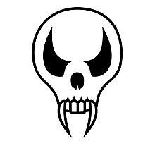 Cartoon Vampire Skull Photographic Print