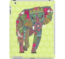 painted elephant chartreuse iPad Case/Skin