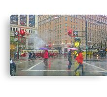 Market Street Morning Rain Canvas Print