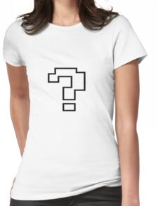 Pixel Question Mark Womens Fitted T-Shirt
