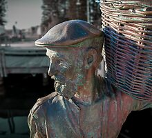 Old Man Statue, Freemantle, Perth  by Paul Barralet