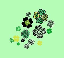 Celtic Love Knot Clovers by ArtVixen