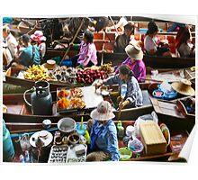"""Floating Market"" Bangkok,Thailand Poster"