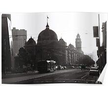 Flinders St Sunset Poster