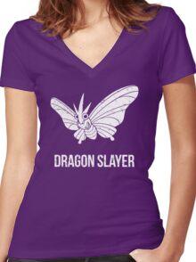 Dragon Slayer Women's Fitted V-Neck T-Shirt