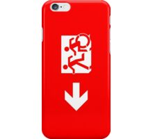 Accessible Means of Egress Icon and Running Man Emergency Exit Sign, Left Hand Arrow iPhone Case/Skin