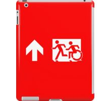 Accessible Means of Egress Icon and Running Man Emergency Exit Sign, Left Hand Up Arrow iPad Case/Skin
