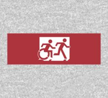 Accessible Means of Egress Icon and Running Man Emergency Exit Sign, Right Hand Kids Clothes
