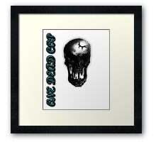 One Dead Cop Framed Print