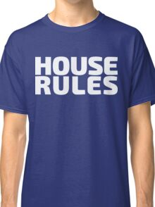 House Rules [Beer Pong Shirt] White Ink Classic T-Shirt