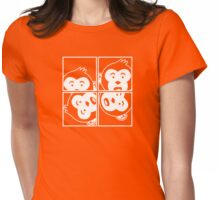 Surprised Monkey - Photo Booth Womens Fitted T-Shirt