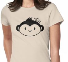 Kawaii Monkey with Crown Womens Fitted T-Shirt