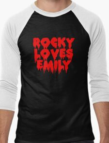 Rocky Loves Emily horror edition Men's Baseball ¾ T-Shirt