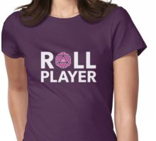 Roll Player Pink d20 Womens Fitted T-Shirt