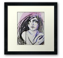 Painful Emotions Framed Print