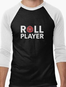 Roll Player Red d20 Men's Baseball ¾ T-Shirt