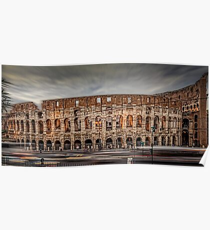 City Lights - Colosseum - Rome Italy Poster