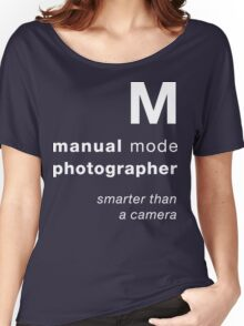 M = smarter than a camera Women's Relaxed Fit T-Shirt