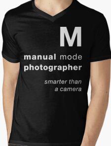 M = smarter than a camera Mens V-Neck T-Shirt