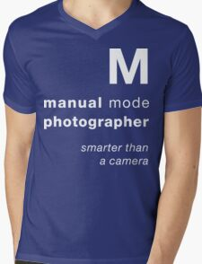 M = smarter than a camera Mens V-Neck T-Shirt