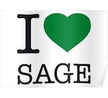 I ♥ SAGE Poster