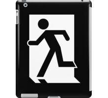 Running Man Emergency Exit Sign, Left Hand iPad Case/Skin